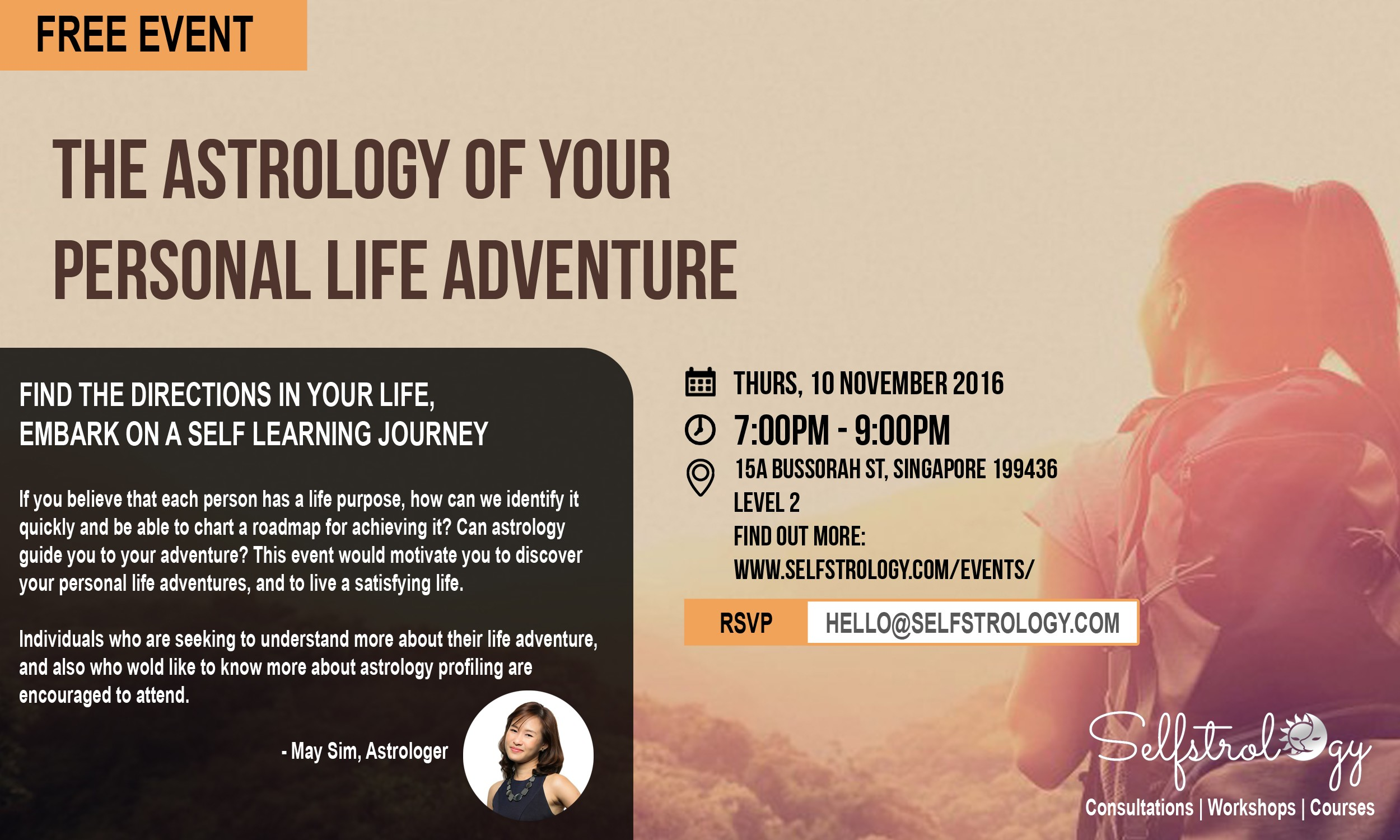 Selfstrology Free Event The Astrology Of Your Personal Life Adventure