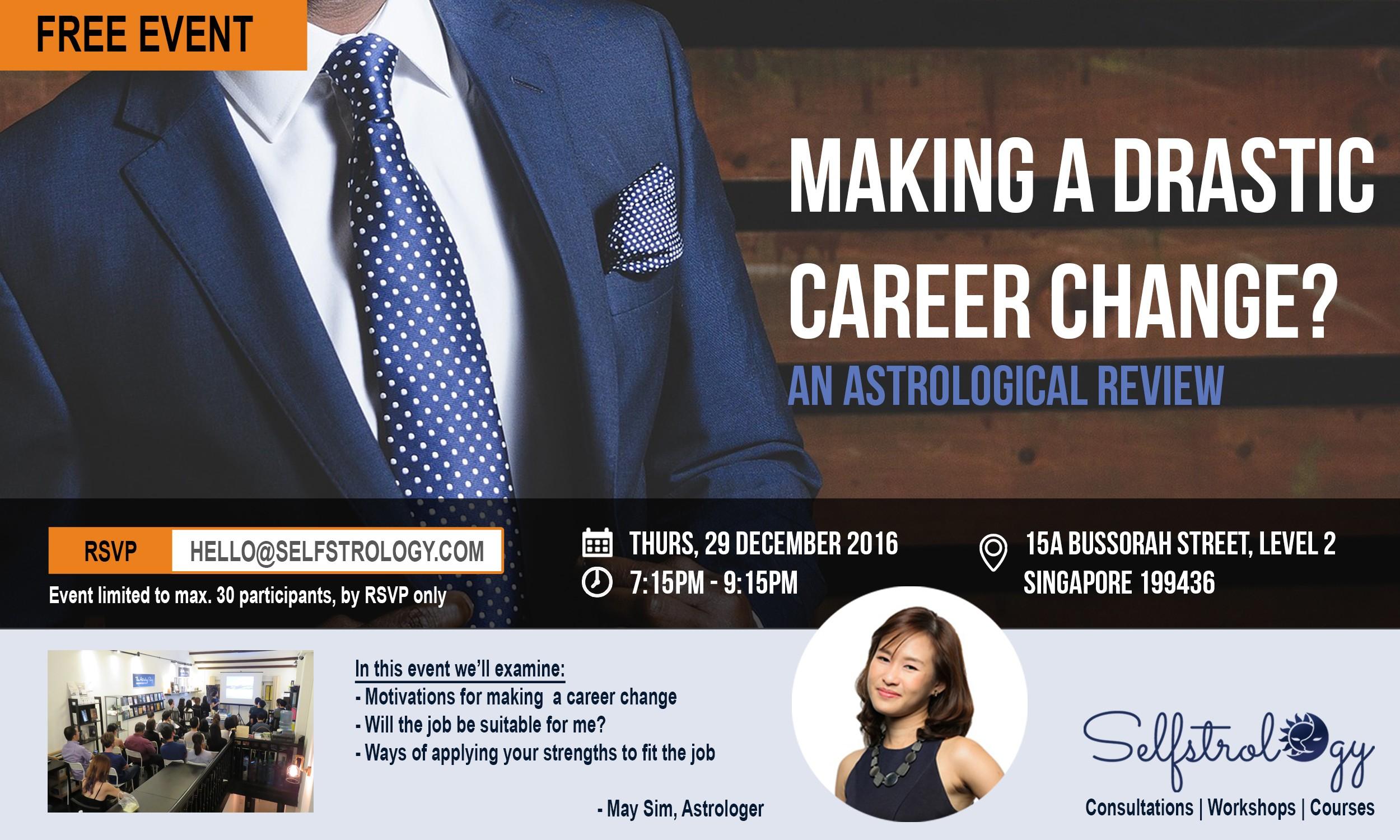 selfstrology event making a drastic career change 15 dec event making a drastic career change