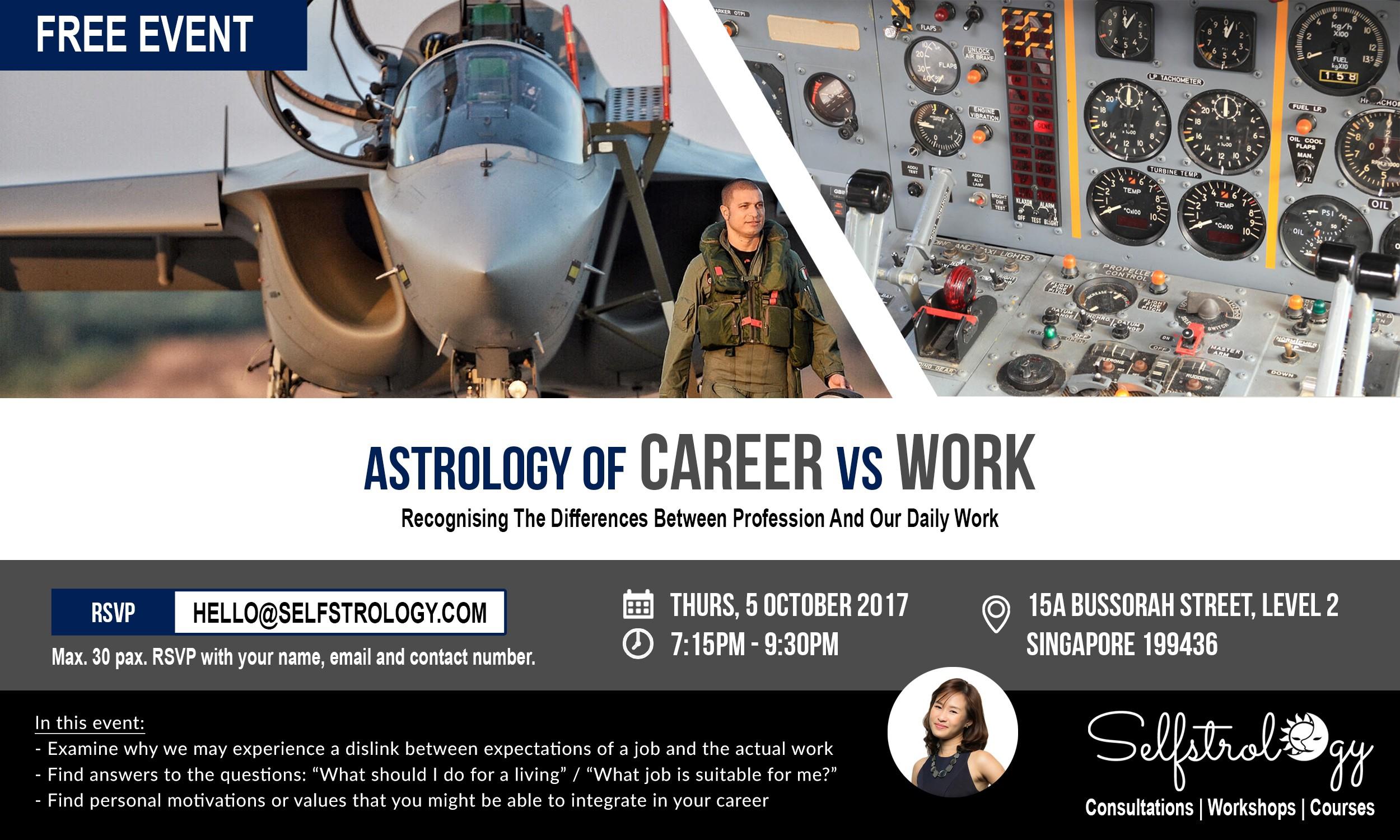 Selfstrology | FREE EVENT: Astrology Of CAREER vs WORK